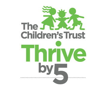 The Childrens Trust Thrive by 5 Logo