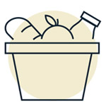 Icon of food in a basket