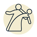 Icon of two people dancing