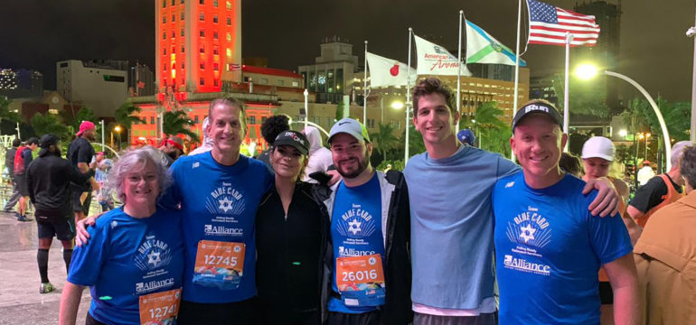 Team Blue Card Miami Marathon and Half Marathon participants