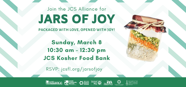 Join the JCS Alliance for Jars of Joy, packaged with love, opened with joy!