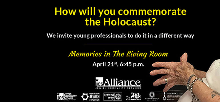 How will you commemorate the Holocaust? We invite young professionals to do it in a different way. Memories in the Living Room.