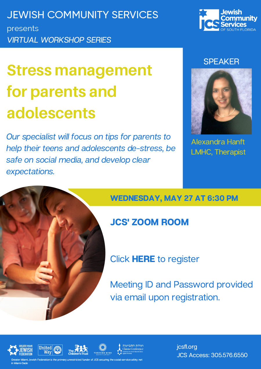 Stress Management for Parents and Adolescents - Jewish ...