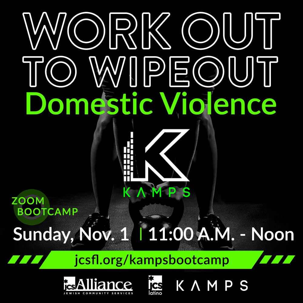 KAMPS Work Out To Wipeout domestic violence. Sunday, Nov. 1, 11 a.m. to noon.